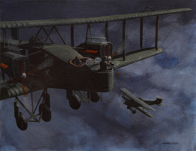 handley-page hp 0/400 ww1 leslie blacking painting