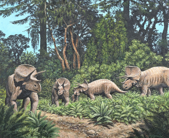 triceratops cretaceous painting